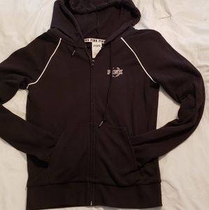 Victoria Secret pink zip up lightweight hoodie XS